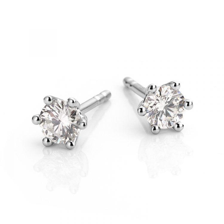Oorbellen gemaakt van platina met diamant uit de serie Love for Details van Hester Vonk Noordegraaf