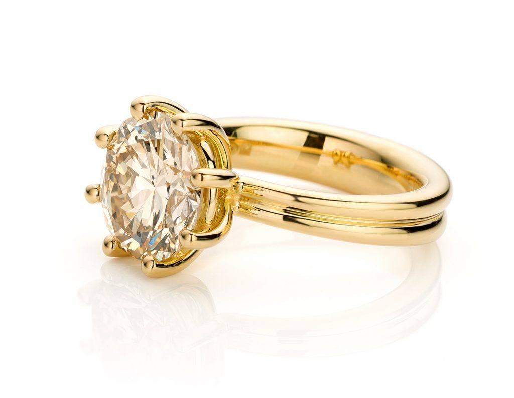 Ring uitgevoerd in 18 karaat geelgoud met diamant uit de collectie Love for Details van Hester Vonk Noordegraaf