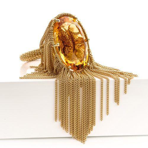 Ring met citrien en akoya parels uitgevoerd in 18 karaat geelgoud uit de collectie Sense of Expression van Hester Vonk Noordegraaf